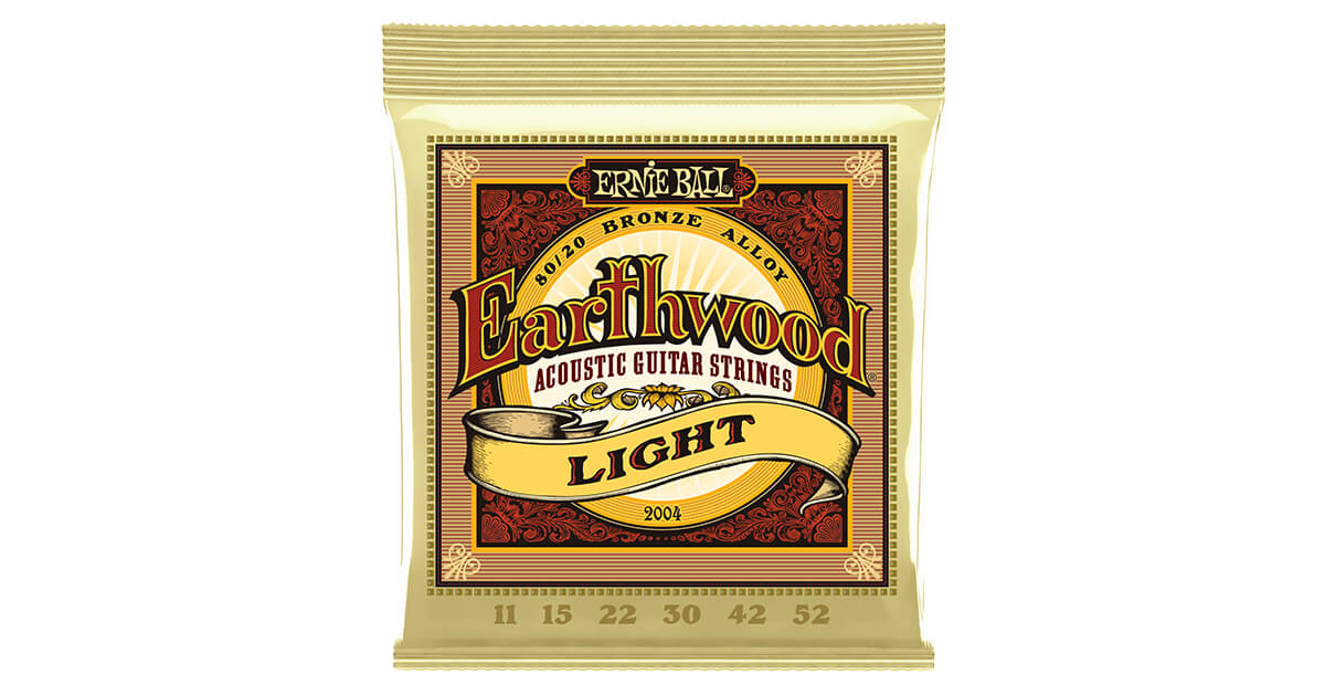 Encordoamento Ernie Ball 2004 Earthwood - Aço - Musical Perin
