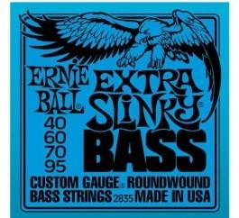 Encordoamento Ernie Ball 2835 - Extra Slinky para Contra Baixo 4 cordas  - Musical Perin
