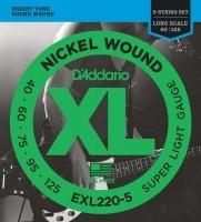 Encordoamento Daddario EXL220-5 Contra Baixo 040 - Musical Perin