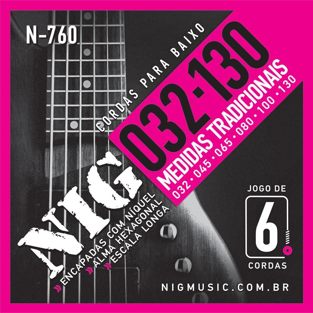 Encordoamento NIG N-760 Para Contra baixo 6 Cordas - Musical Perin