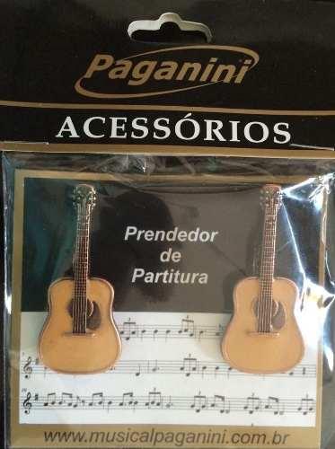 Prendedor Partitura Paganini - Violão  - Musical Perin