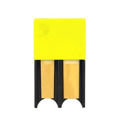Porta Palheta de Clarinete Bb e Sax Alto D'Addario amarelo, para 4palhetas - Musical Perin