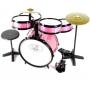 Bateria Rock Baby Am2 Infantil Com Chimbal - Rosa - Musical Perin