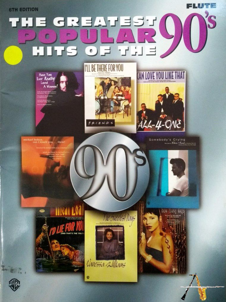 Método The Greatest Popular Hits Of The 90's - Flauta - Musical Perin