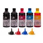 Kit Refil de Tinta Impressora Canon GI-190 G1100 G2100 G3100 G3111 G4100 G4102  (5x500ml)