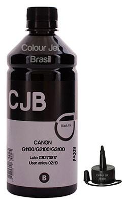 Kit Refil de Tinta Canon Black Série G1100 2100 3100  (500ml)