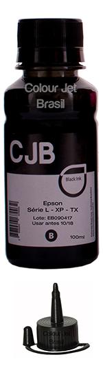 Refil Black Tinta Impressora Epson L355 l365 l375 l395  (100ml)