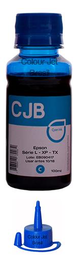 Refil Cyan  Tinta Impressora Epson L355 l365 l375 l395 (100ml)