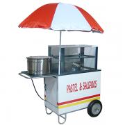 Carrinho de pastéis e salgados com rodas pneumática Pipocar 42571 branco