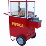 Carrinho de pipoca doce e salgada com rodas pneumatica Pipocar 45132