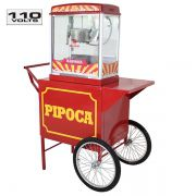 Carrinho de pipoca retrô com máquina de pipoca elétrica 127 volts  Pipocar 42492 - Vermelho