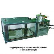 Kit pipoqueira de balcão com vitrine dupla para pipocas e fogareiro eletríco de 1000 wats - 3041
