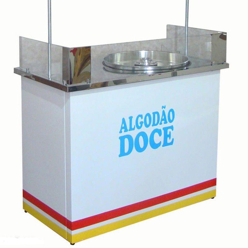 Barraca de algodão doce com vidro e sem a máquina Pipocar 30311