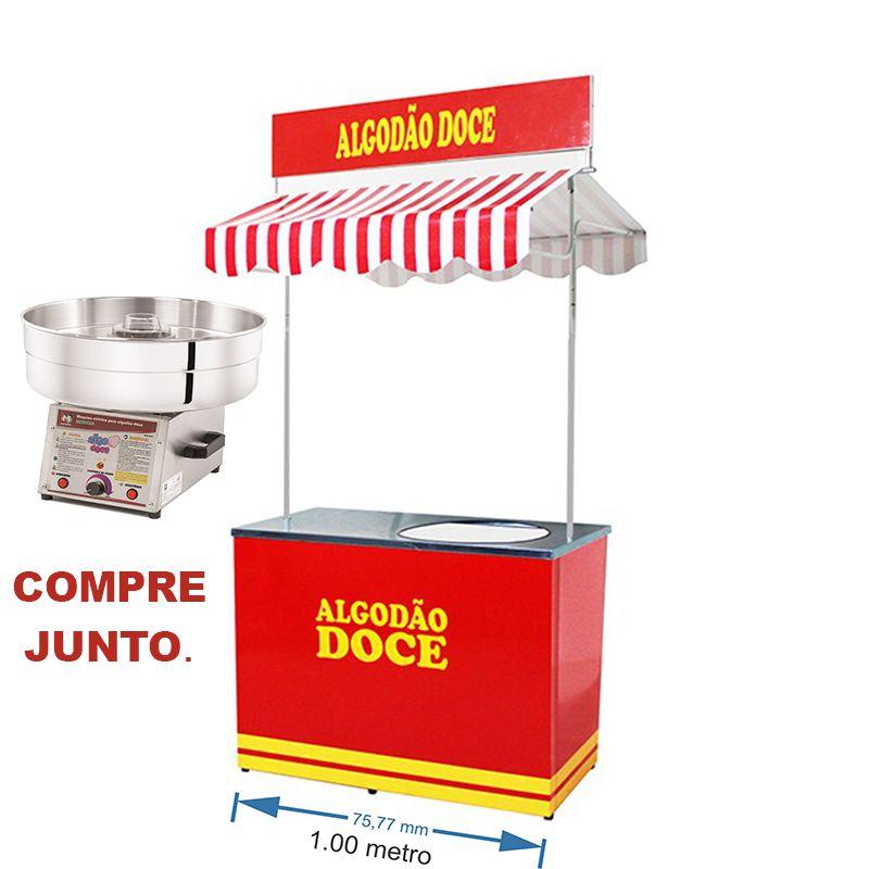Barraca buffet algodão doce Modelo 3001 + Máquina algodão doce profissional Modelo 5007 Pipocar