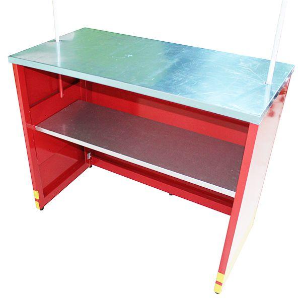 Barraca de crepe suiço com mesa em aço inox Pipocar 3004