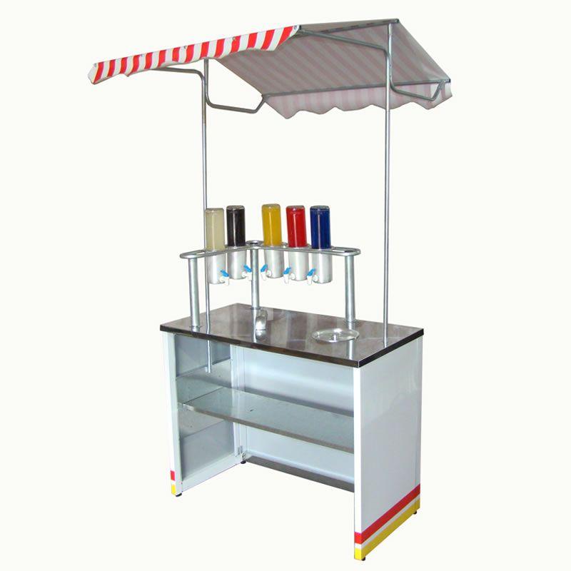 Barraca de raspadinha de gelo suporte com 5 porta litros com as torneiras Pipocar 30081