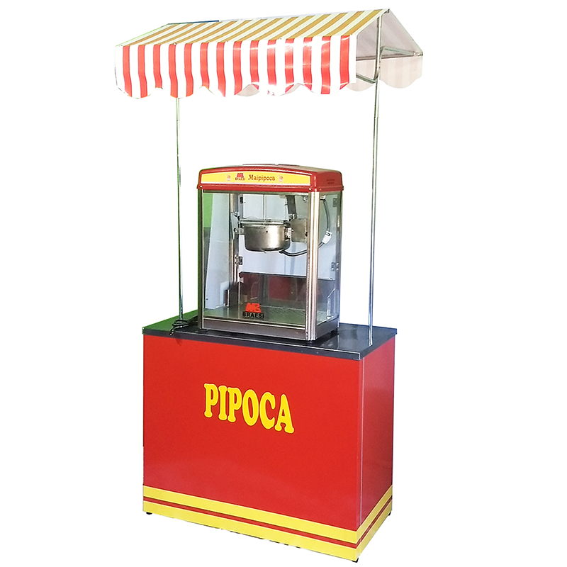 Barraca buffet pipoca 1.00 mt com a máquina de pipoca eletrica Pipocar 3027