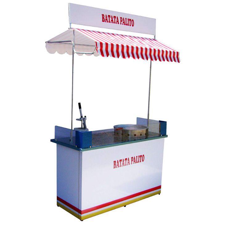 Barraca de fritura em geral com a mesa aço inox Pipocar 30321
