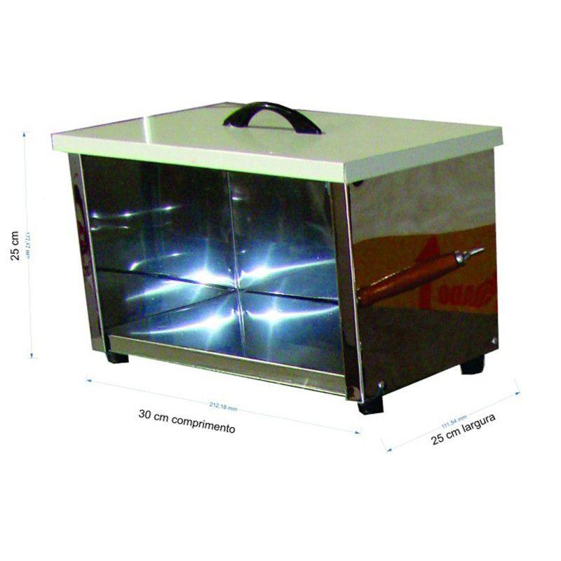 Caixa para armazenar pipocas - Pipocar med. 0,30 x 0,25 x 0,45 cm - cod. 0627