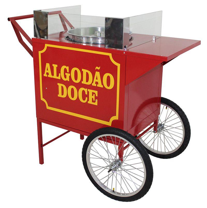 Carrinho de algodão doce retrô sem a máquina algodão doce   Modelo 42382 vermelho