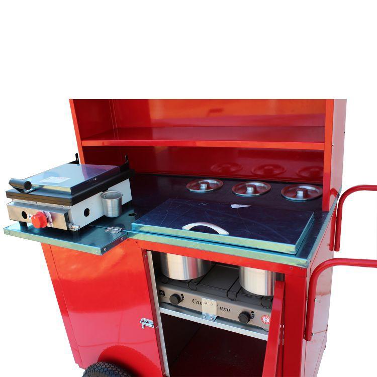 Carrinho de cachorro quente e lanches em geral e com rodas pneumática Pipocar 42052