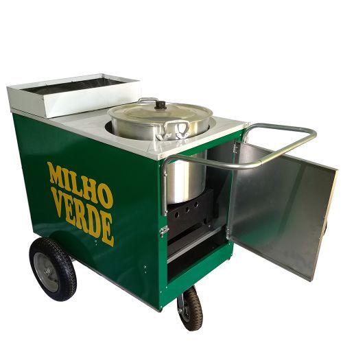 Carrinho de milho verde com caldeirão e rodas pneumática  - Modelo 4251 Pipocar