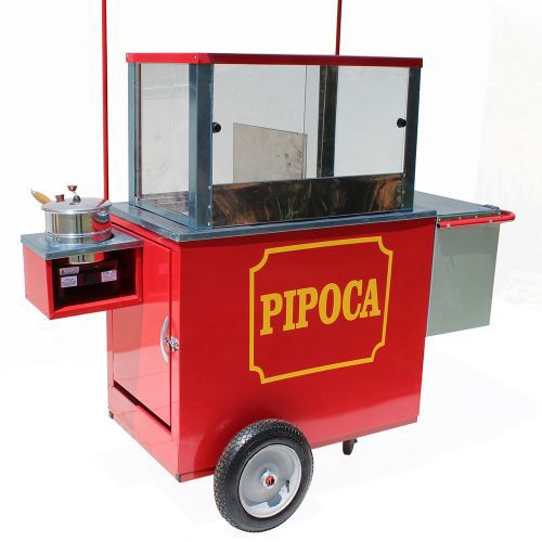 Carrinho de pipoca doce e salgada com caixa térmica com gelox - Pipocar 4229