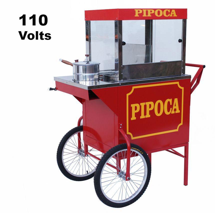 Carrinho de pipoca retro elétrico doce e salgada com resistência eletrica 110 volts  Pipocar 42461