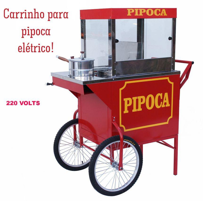 Carrinho de pipoca retro elétrico doce e salgada com resistência elétrica 220 volts Pipocar 42462