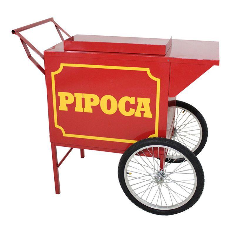 Carrinho de pipoca para adaptar a pipoqueira elétrica sem máquina pipoca - Pipocar 42372 Vermelho