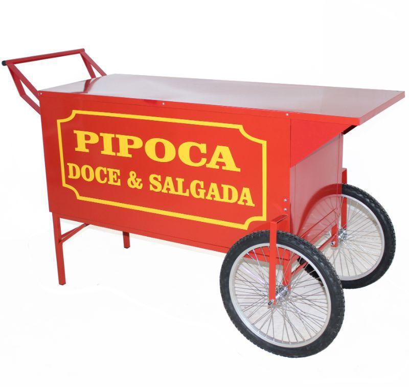 Carrinho de pipoca retrô Para 2 pipoqueiras elétrica sem máquinas pipoca  Pipocar 42802 vermelho