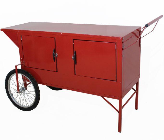 Carrinho de retro med. 1.50mt  x 0,55 cm com 2 rodas bicicleta e 2 rodas giratoria