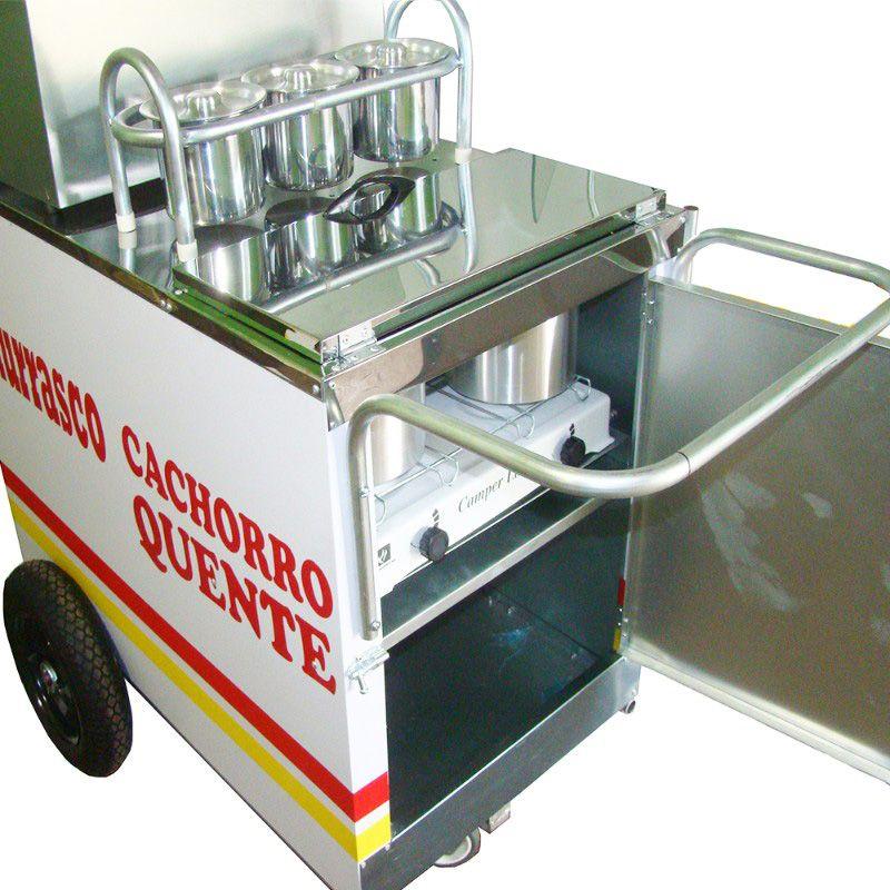 Carrinho de cachorro quente e churrasco  churrasqueira Pipocar 42701 branco