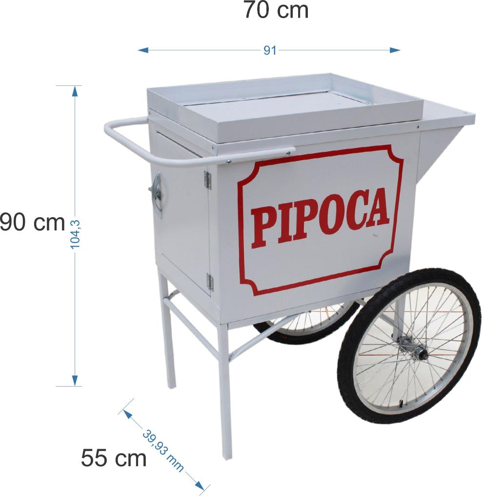 Carrinho para adaptar a maquina pipoca eletrica- sem a maquina pipoca  -Pipocar  MD 4200