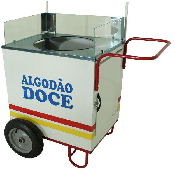 Carrinho de algodão doce com rodas pneumática sem a máquina Pipcar 42111 branco