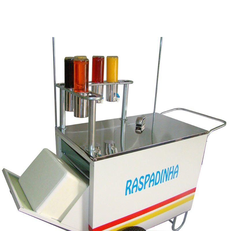 Carrinho de raspadinha de gelo e rodas pneumática e raspador Pipocar 42301 branco