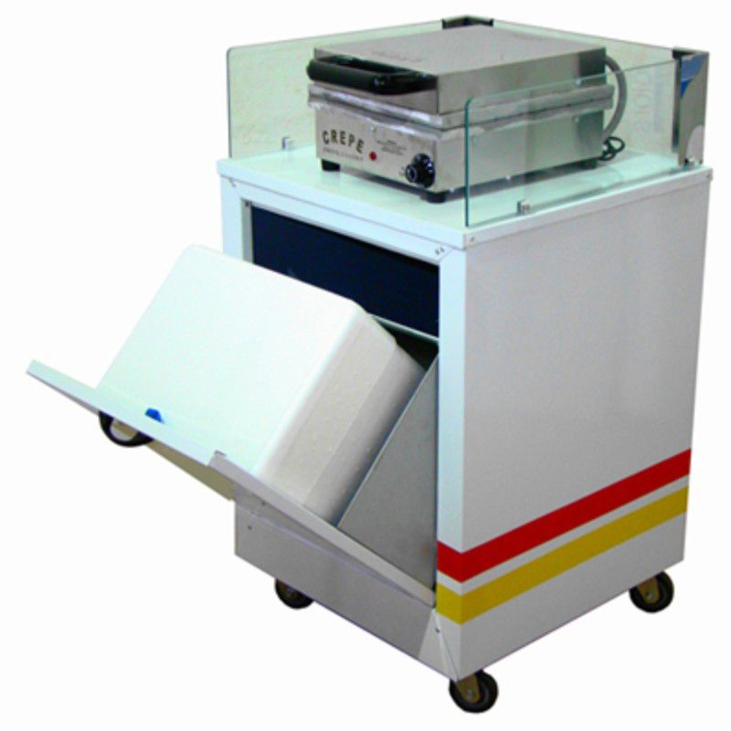 Gabinete de crepe suiço com caixa térmica sem a máquina crepe -Modelo 50161