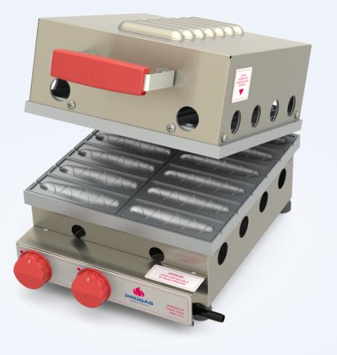 Maquina de crepe suiço Gás Gpl PRK-120 G em aço inox _ Pipocar