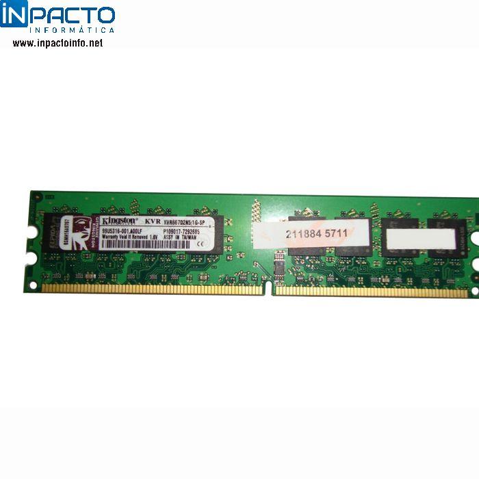 MEMORIA 1024MB KINGSTON DDR2 667 - In-Pacto Informática