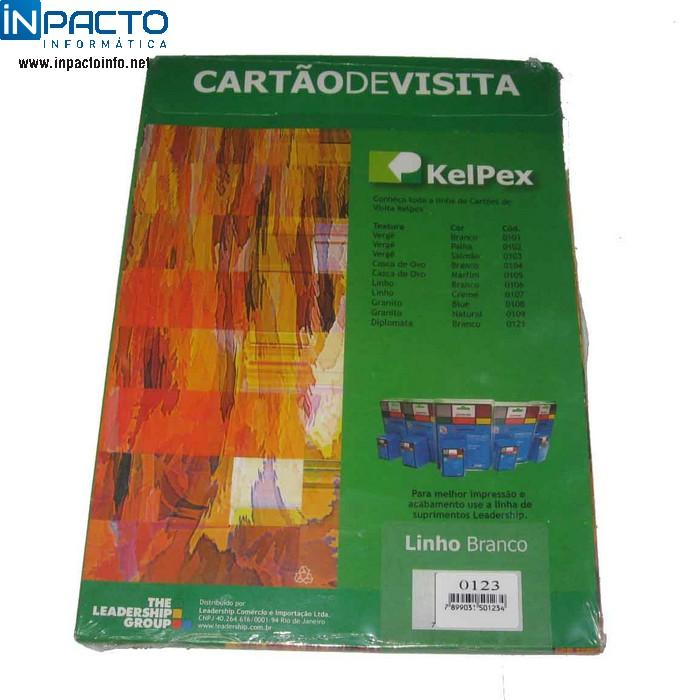 CARTÃO DE VISITA 100UN MICROSERRILHADOS 180g - In-Pacto Informática