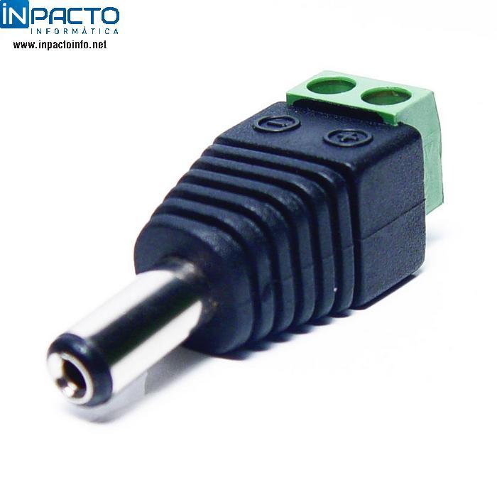 CONECTOR P4 MACHO C/ BORNE - In-Pacto Informática