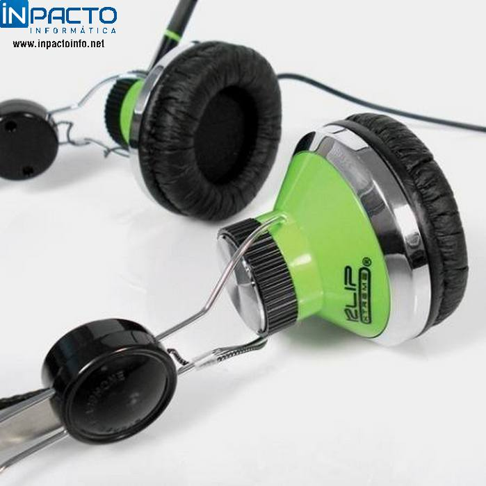 FONE C/MIC KLIP EAR-CUP KHS-825 VERDE - In-Pacto Informática