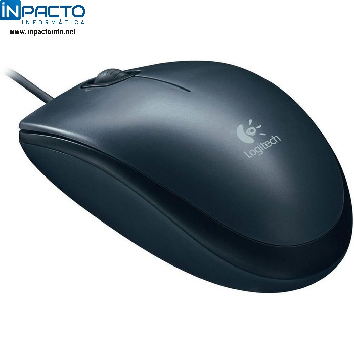MOUSE OPTICO LOGITECH M90 USB PTO - In-Pacto Informática