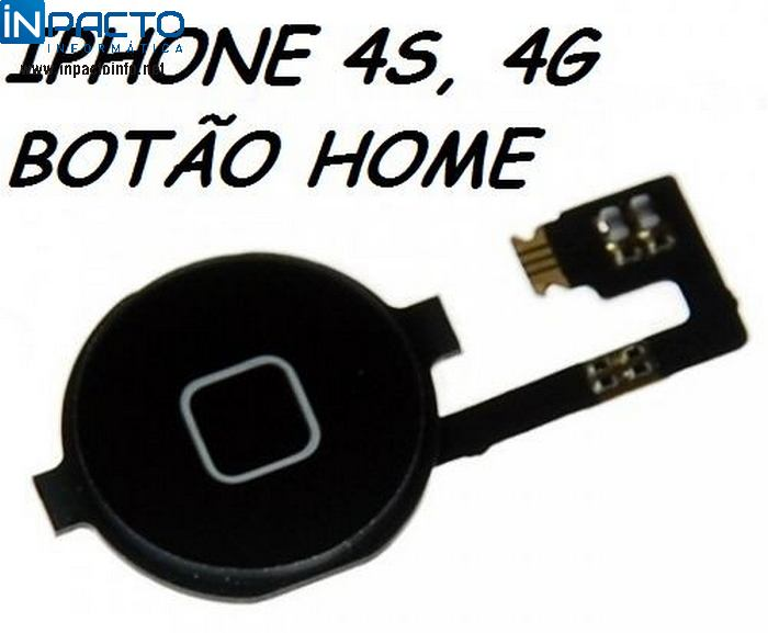 BOTAO HOME COM CABO FLEX IPHONE 4/ 4S - In-Pacto Informática