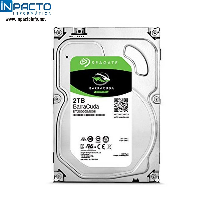 HD SATA3 2TB SEAGATE ST2000DM006 - In-Pacto Informática
