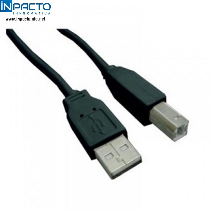 CABO USB A MACHO X B MACHO 2.0 PLUSCABLE 1,8M - In-Pacto Informática