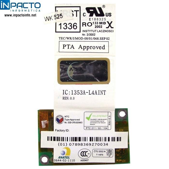 MODEM 56K  TOSHIBA M35 - In-Pacto Informática