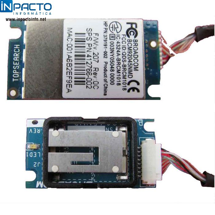 PLACA BLUETOOTH BROADCOM PARA NOTEBOOKS - In-Pacto Informática