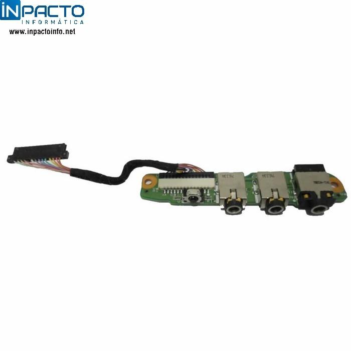 PLACA AUDIO JACK HP DV6000 - In-Pacto Informática