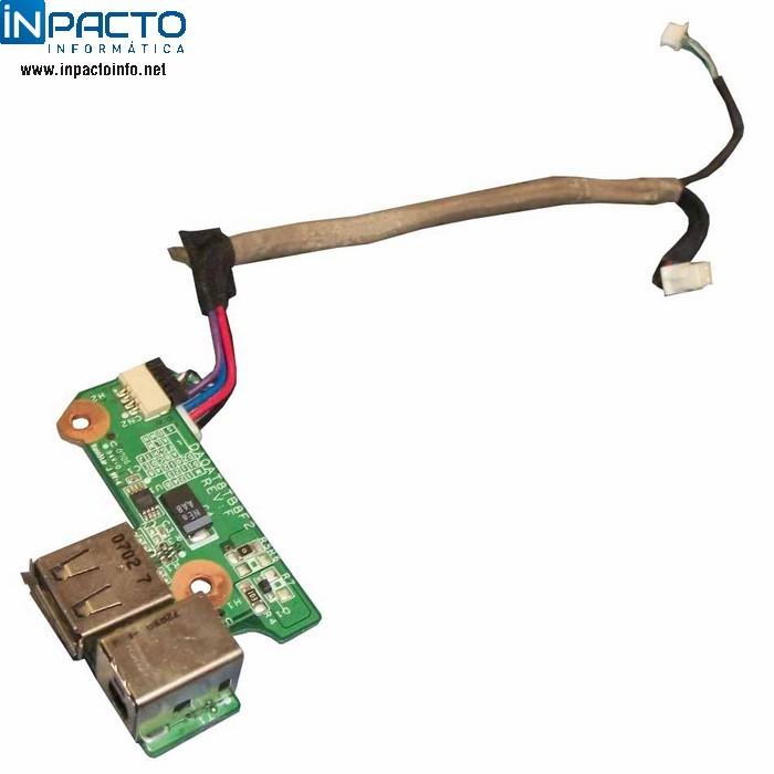 PLACA DE ALIMENTAÇÃO DC + USB HP DV6000 - In-Pacto Informática